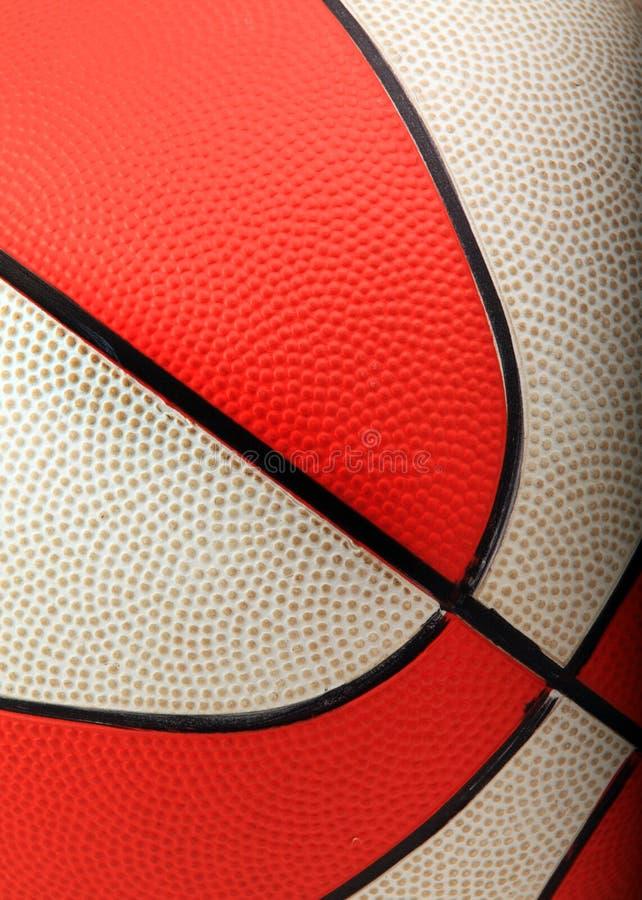 Close up alaranjado e branco do basquetebol fotografia de stock royalty free