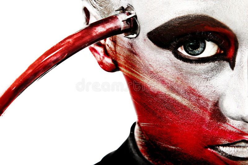 Download Close Up Alien Face Artistic Cosmetics Stock Photo - Image: 22359100
