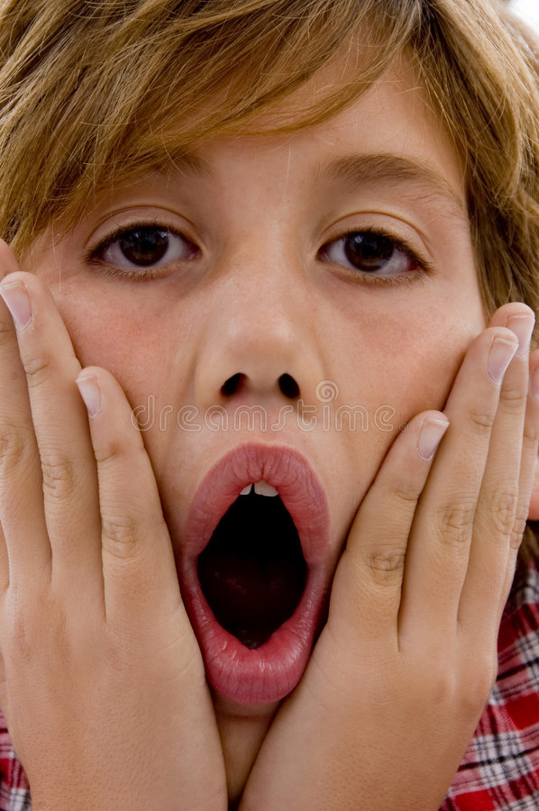 Download Close Up Of Amazed Young Boy Stock Photo - Image: 7417910