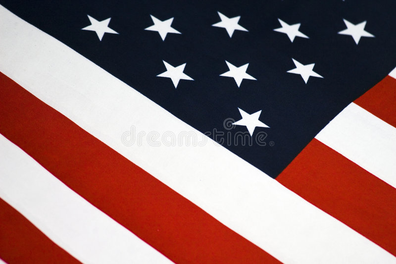 Close-Up, American Flag. Close-up of an American Flag stock photo