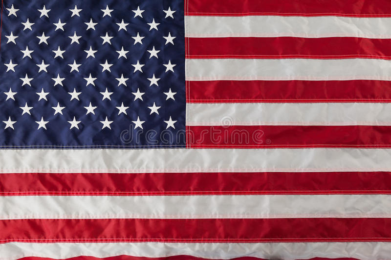 Close-up of an American flag. Full frame of an American flag stock photo