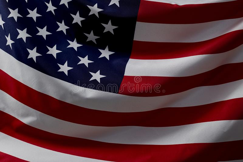 Close Up American Flag Wave royalty free stock image