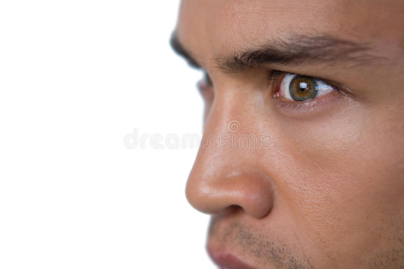 Close up of angry businessman looking away royalty free stock photography