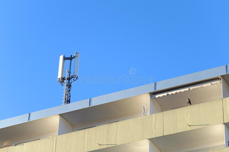Download Antenna stock image. Image of communication, roof, addition - 29898865