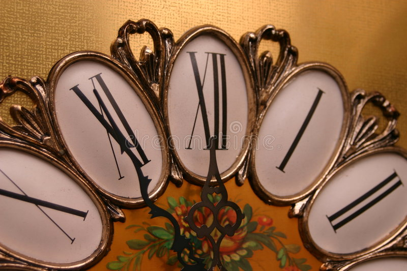 Close Up Antique Clock Royalty Free Stock Photography