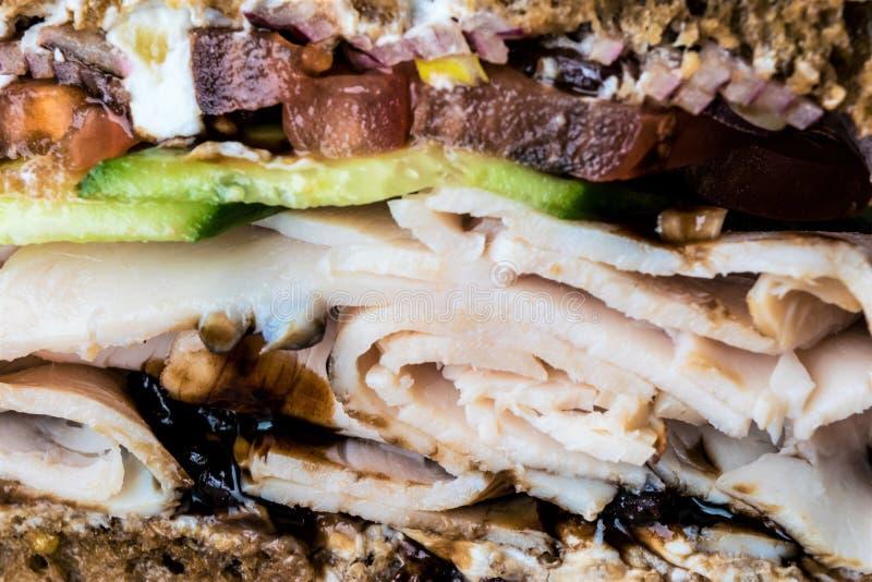Close-up apertado do sanduíche de peru imagens de stock