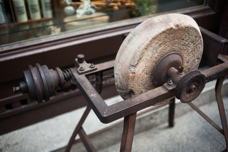 Close up apontando antigo da roda imagem de stock royalty free
