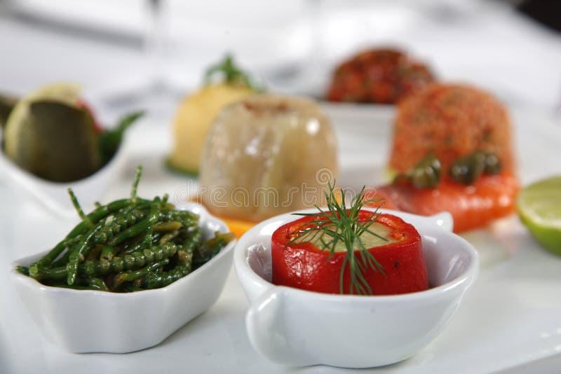 Close up of appetizer stock photos