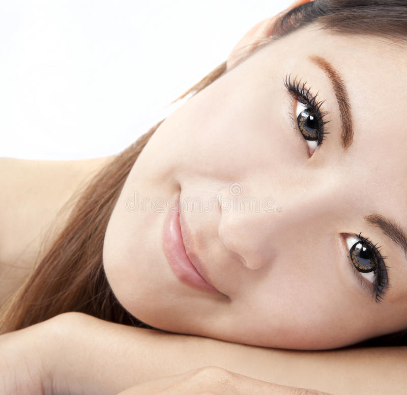 Download Close Up Of Asian Woman Face Stock Photo - Image of cute, portrait: 20327042