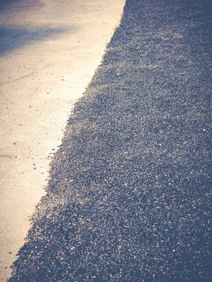 Close up asphalt road repair royalty free stock photo