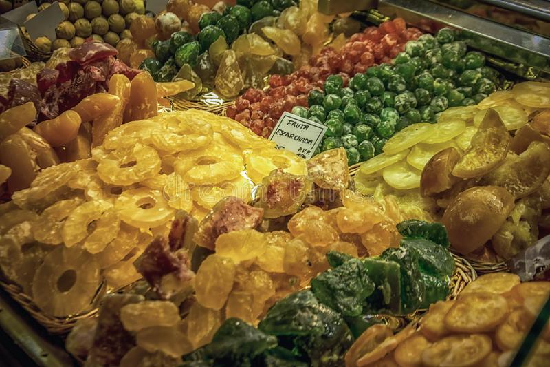 Dried Fruit at the Marketplace stock image