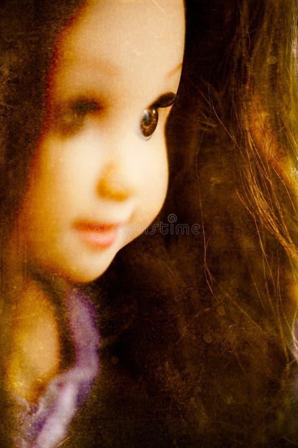 Close up assustador da boneca foto de stock royalty free