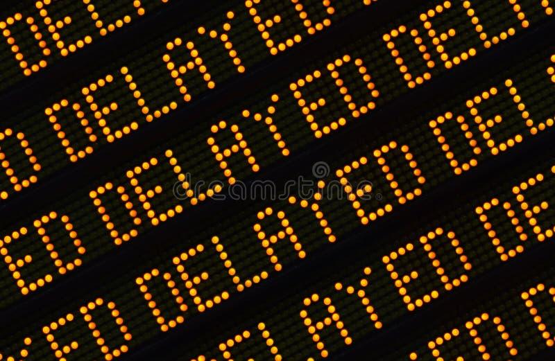 Close up atrasado do sinal foto de stock