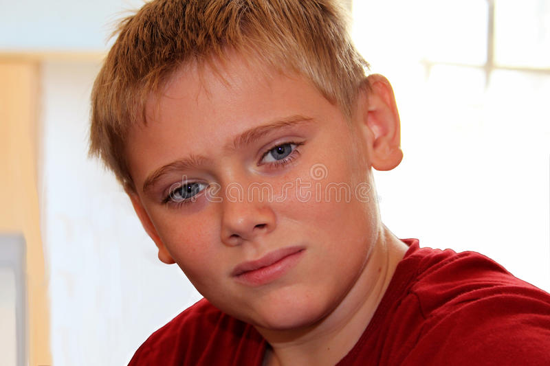 Close-up Attractive Young Boy stock photography
