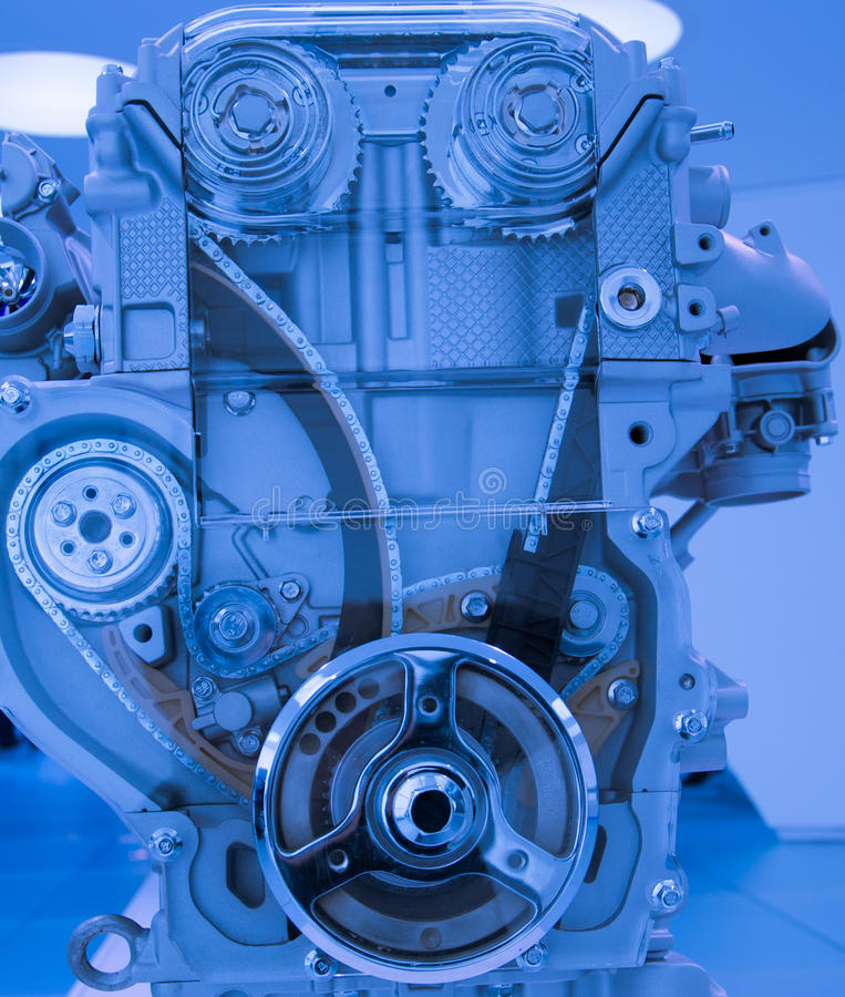 Close-up automobile gasoline engine model royalty free stock photos