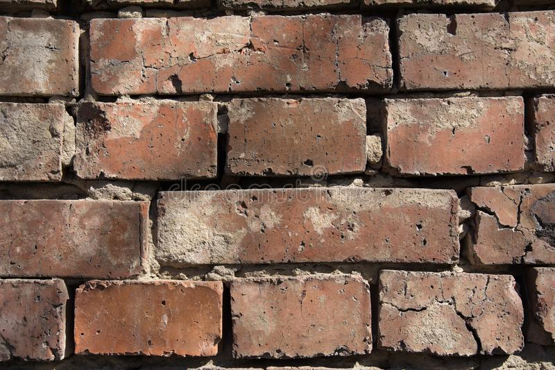 Close-up background of an old brick wall royalty free stock image