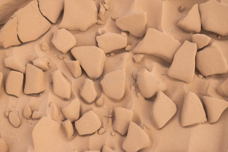 Close up of background texture of desert sand dunes. High resolution royalty free stock photography