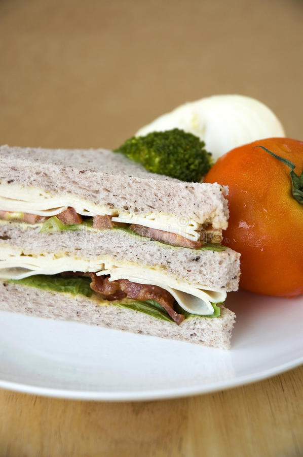 Download Close Up Bacon And Chicken Sandwich Stock Photo - Image: 29501212