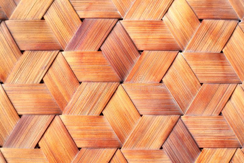 Close up bamboo weaved. stock image