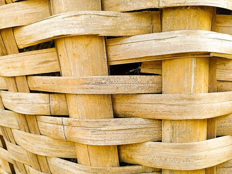 Close up of bamboo weaving basket stock photo