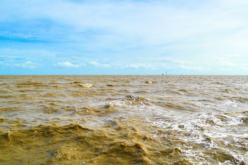 Bangpu sea in Samutprakan at Thailand. Close up Bangpu sea in Samutprakan at Thailand royalty free stock photos
