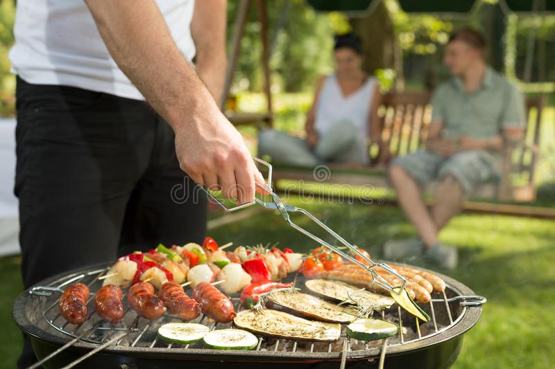 Close-up of barbecue stock photography