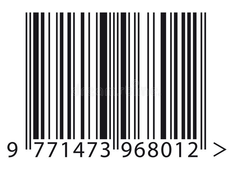 Barcode. Close up of a barcode stock illustration