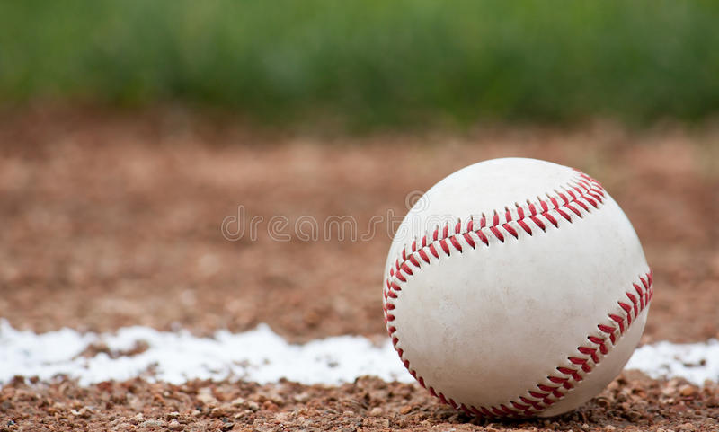 Close-up of a baseball stock image
