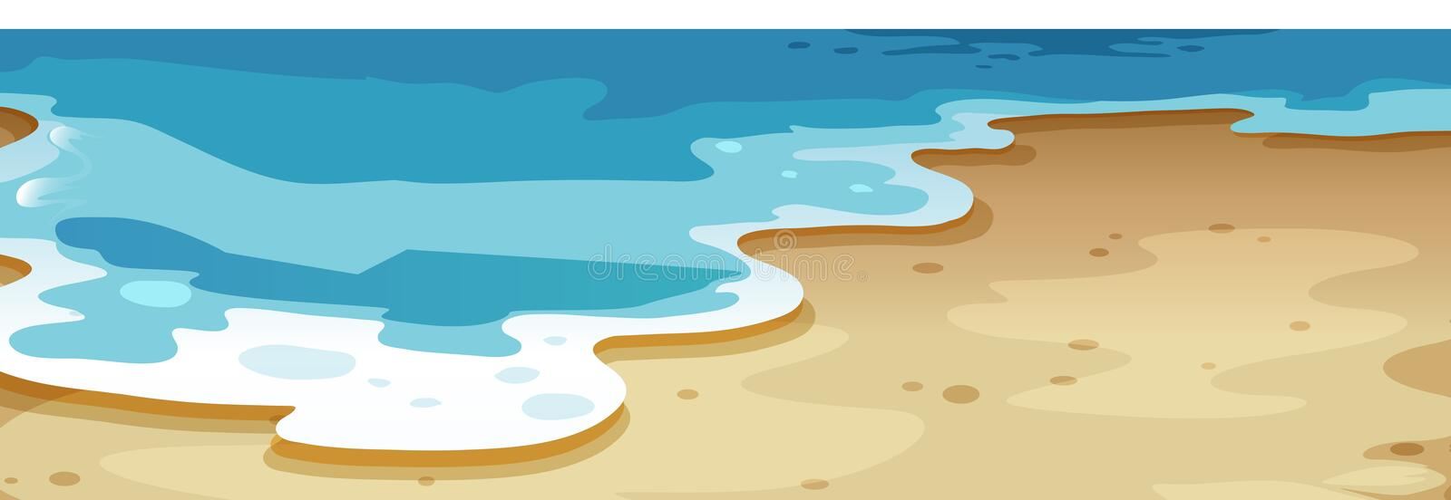 A close up beach background royalty free illustration