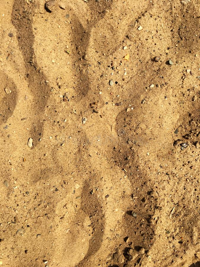 Close-up of beach sand and stones. stock photo