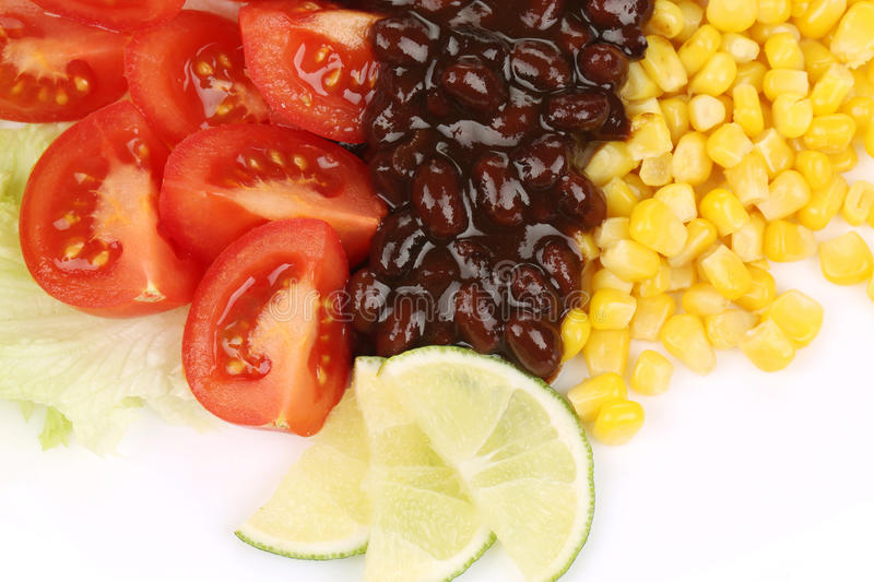 Close Up Of Beans Salad. Stock Photo