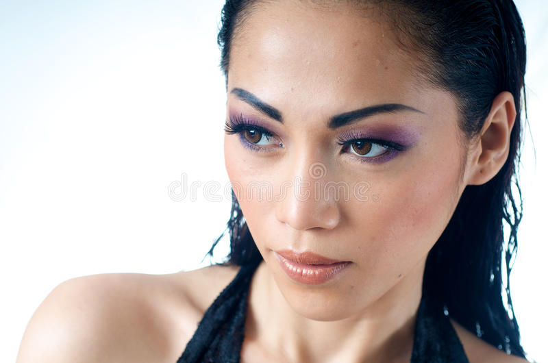 Download Close Up Of Beautiful Asian Woman Stock Image - Image: 16346447