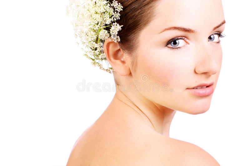 Close up of a beautiful bride royalty free stock images