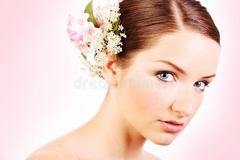 Close up of a beautiful bride royalty free stock photo