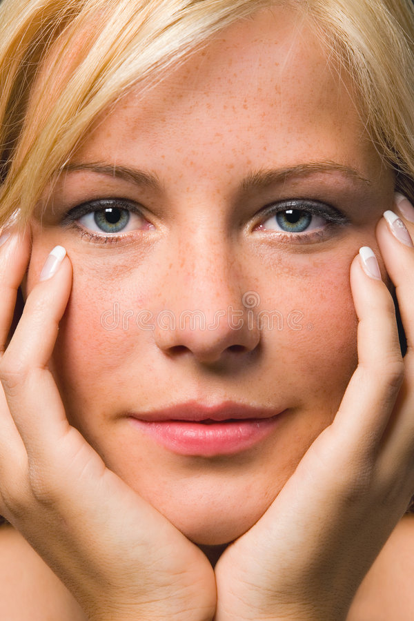 Close up of a beautiful girl stock photo
