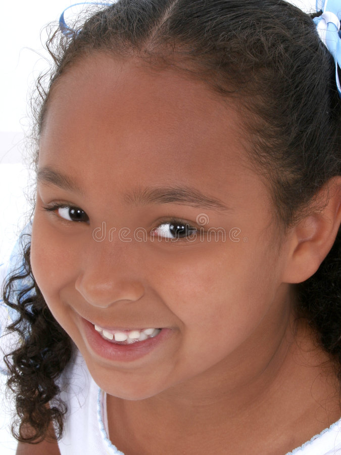 Close-up Of Beautiful Six Year Old Girl Stock Image