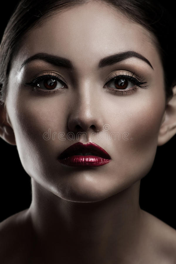 Download Close-up Of Beautiful Woman With Make-up Stock Image - Image: 21466253