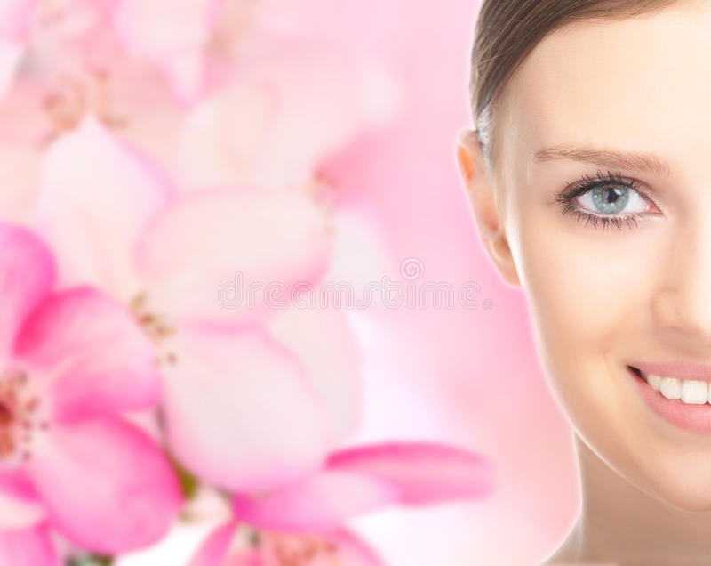Close-up beauty girl portrait stock image