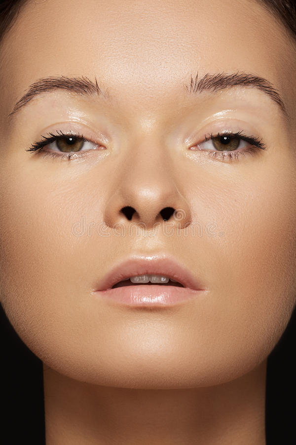 Download Close-up Beauty. Model Face With Tan & Clean Skin Stock Image - Image: 27082543