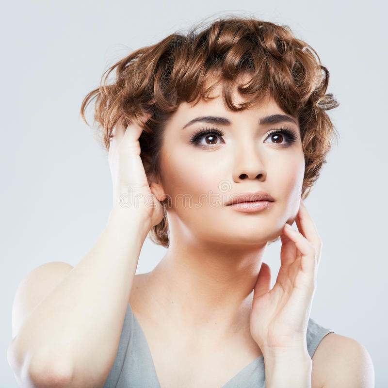 Close up beauty studio shoot. royalty free stock images