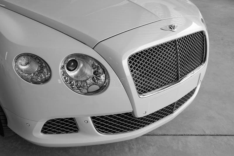 Close up of Bentley Car. Subang Jaya, Malaysia - July 11 2014: Close up picture of Bentley car Bentley is a British luxury automaker owned subsidiary of the royalty free stock photo