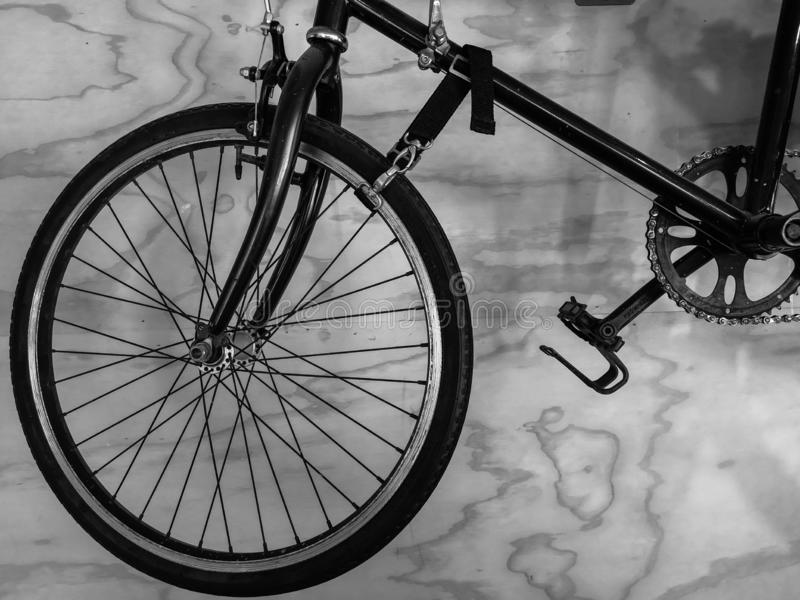 Bicycle in black&white background. royalty free stock images