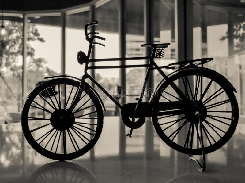 Bicycle in black&white background. stock photos
