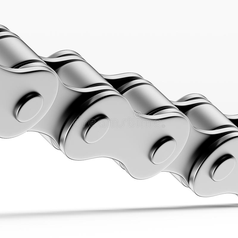 Close up of Bicycle chain vector illustration