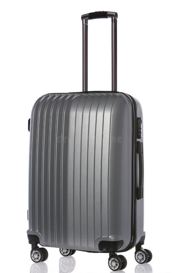 Close up big luggage isolated on white background. Big luggage isolated on white background stock images
