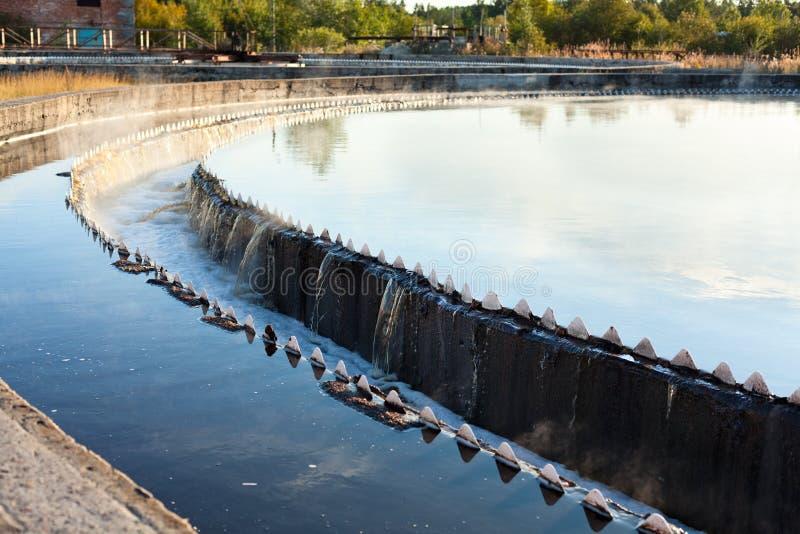 Close-up of big sedimentation drainage royalty free stock photos