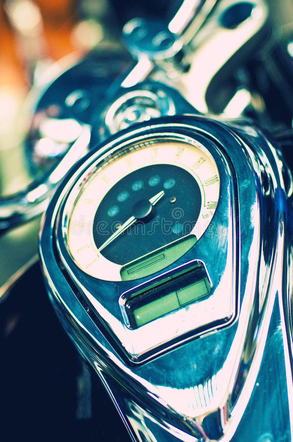 Download Close Up Of A Bike Speedometer Stock Photo - Image: 8927996