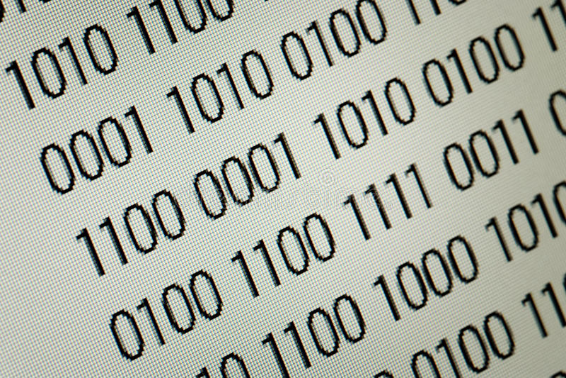 Close up of binary code stock photo