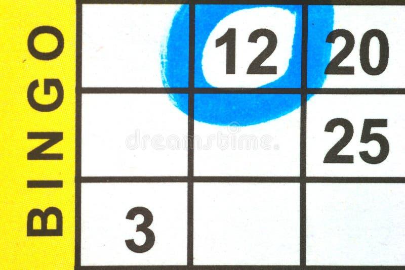 Close up of Bingo Card stock images