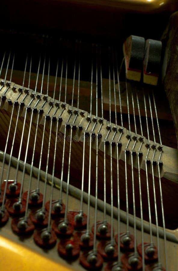 Close-up binnen een Piano stock afbeeldingen